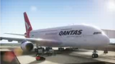 A380 quantas screen grab
