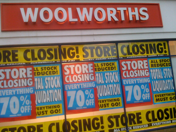 Woolworths closing