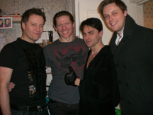 Glenn, Philip, Ryan and Stephen in Ryan's Dressing Room